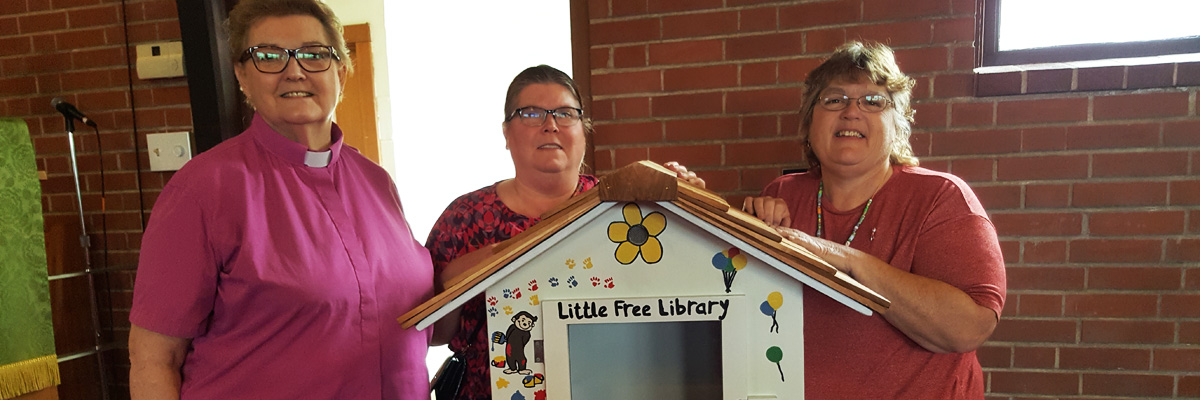 Little Free Library at St. John Fairview in Fairview Heights IL